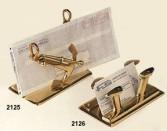 Подставка для визиток два якоря латунь