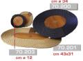 подставка под блюдо овальная 43х31 см (70.201)