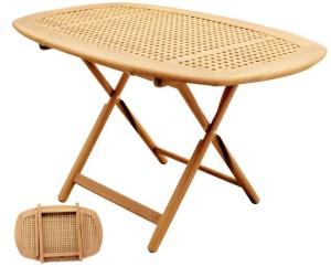овальный тиковый стол 130x82 см