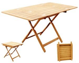 Раскладной тиковый стол 70x75 (140x75)